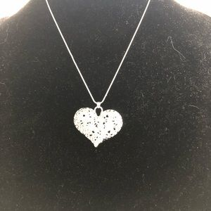 Large heart sterling silver 925 Heart Necklace